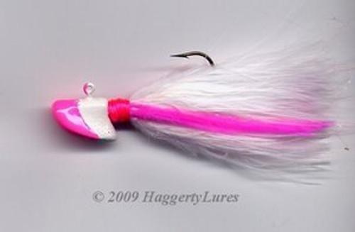 Signature Series Erie Head Jig (Hot Pink/White)