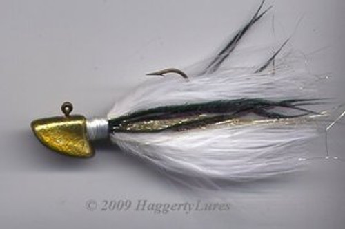 Signature Series Erie Head Jig (Gold/White)
