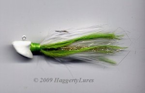 Signature Series Erie Head Jig (Chartreuse/White)