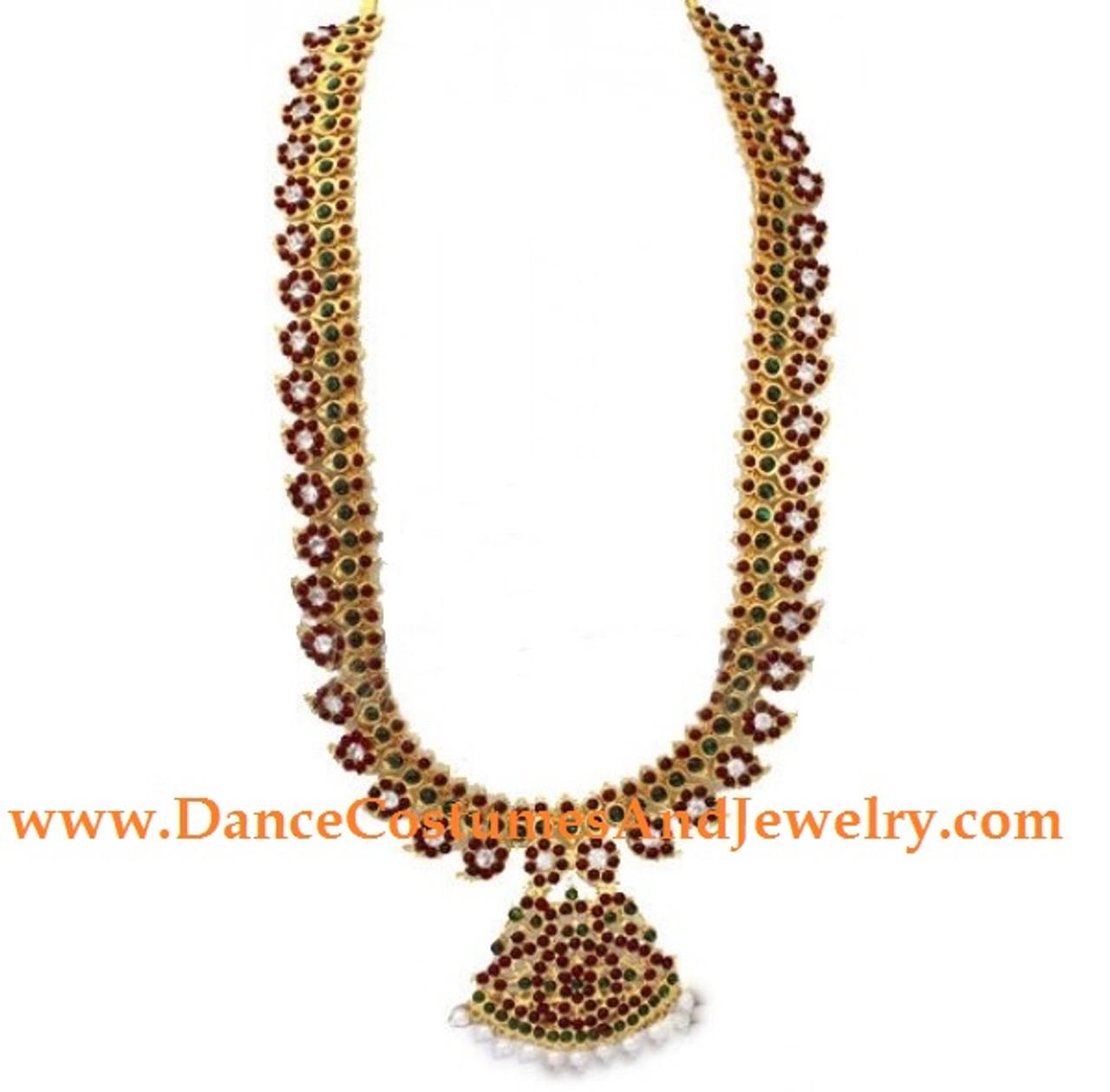 e2b2a8ed528 Long Manga Mala Imitation Temple Jewelry for bharatanatyam dance