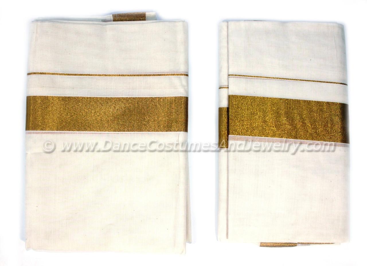 ed1377aa68 Karalkada original Kerala Set Mundu with kasavu pallu for women