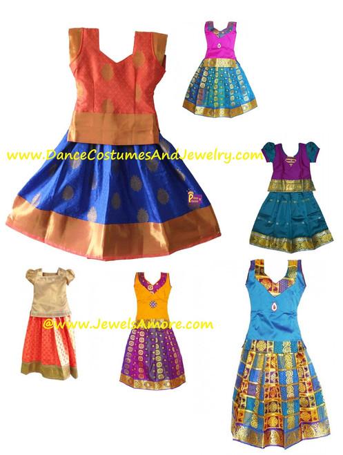 7cd71e741 Stitch pattu pavadai, South Indian traditional dress for girls