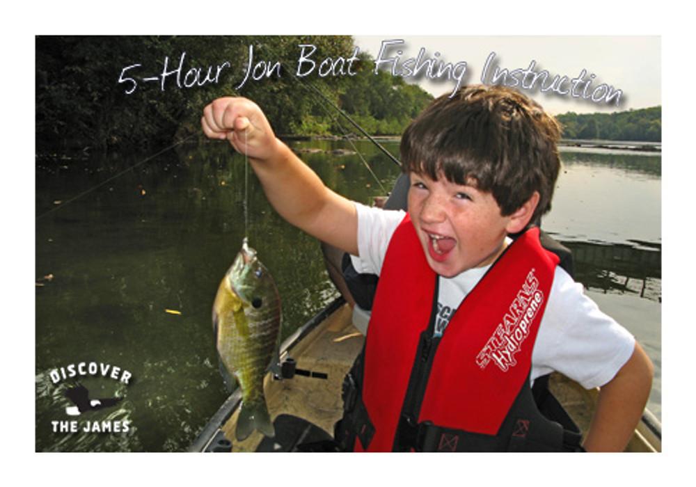 Fishing Instruction:  Jon Boat (5 Hours)