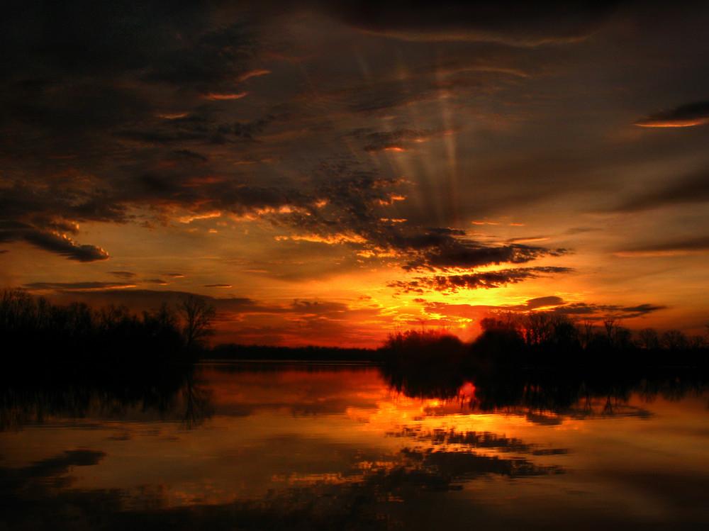 Sunrise Over Curles Neck Swamp