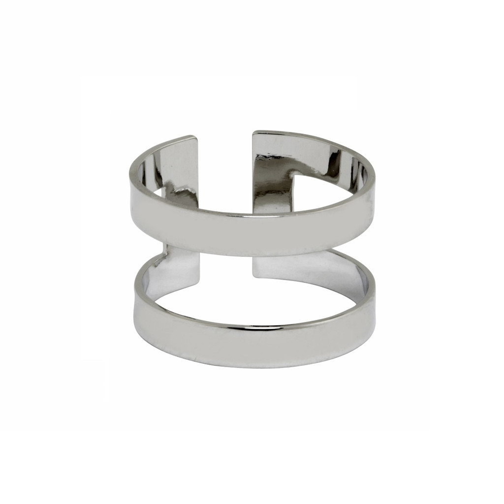 Rhodium Plated Athens Ring