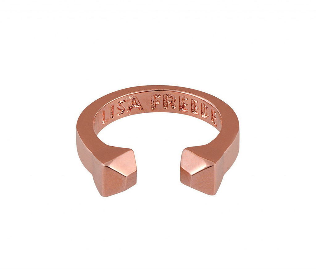 Rose Gold Plated Solid Stud Ring