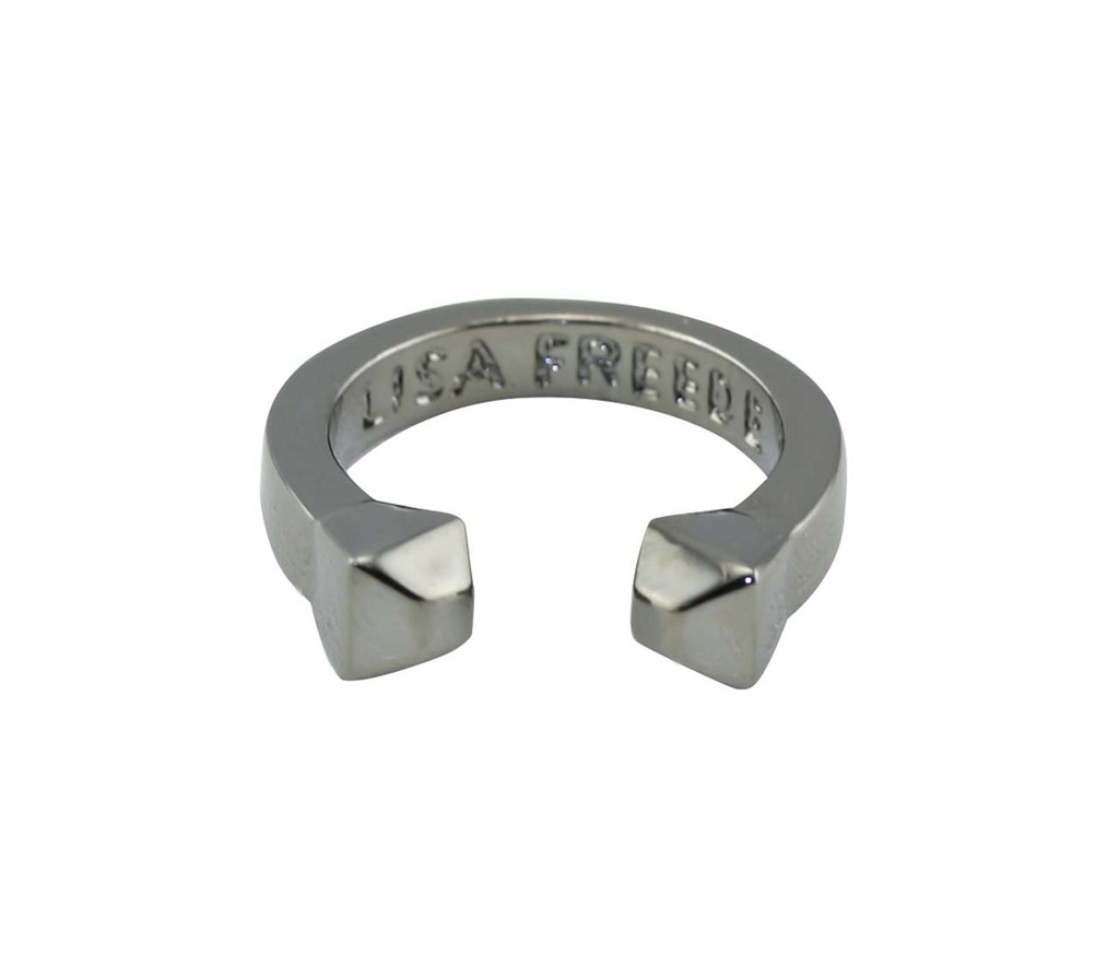 Gunmetal Plated Solid Stud Ring