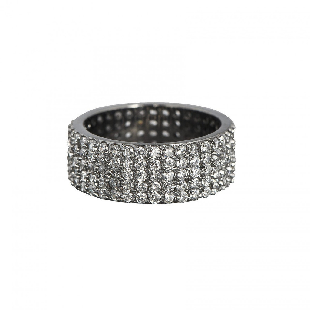 Gunmetal Plated Wide Eternity Band