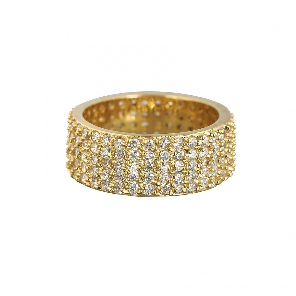 Yellow Gold Plated Wide Eternity Band