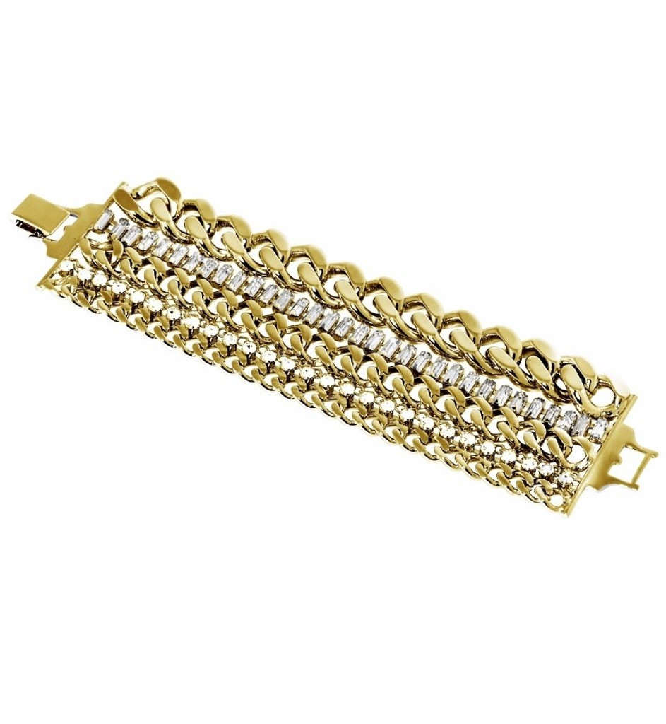 Yellow Gold Plated Brigette Bracelet