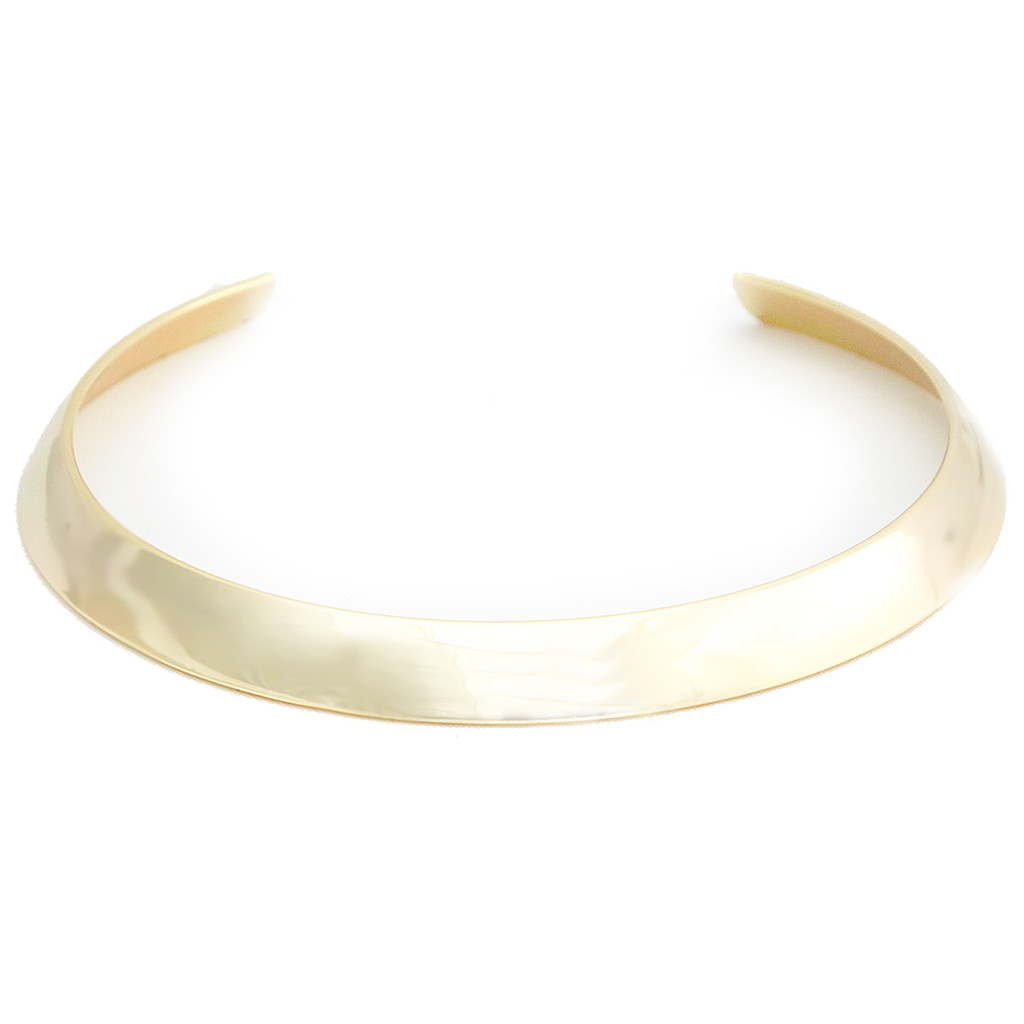 Yellow Gold Plated Cigar Band Choker
