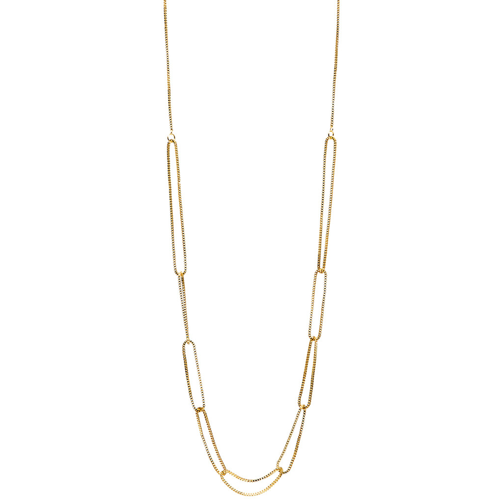 Yellow Gold Plated Jess Necklace