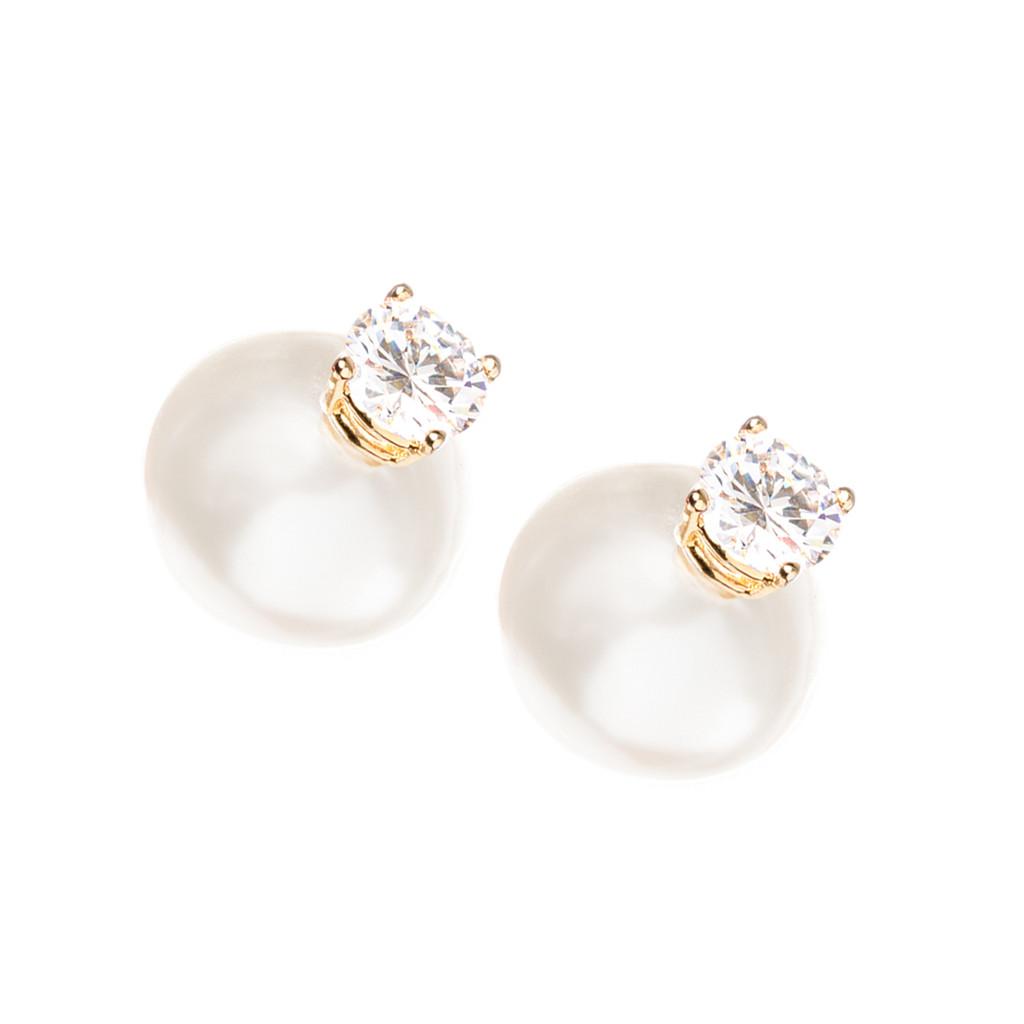 Yellow Gold Plated Pearl Morgan Earrings