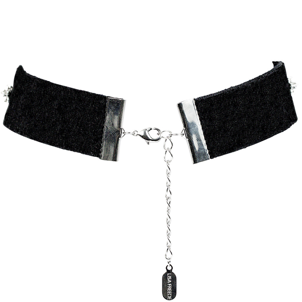 Black Velvet Marilynn Choker Back View