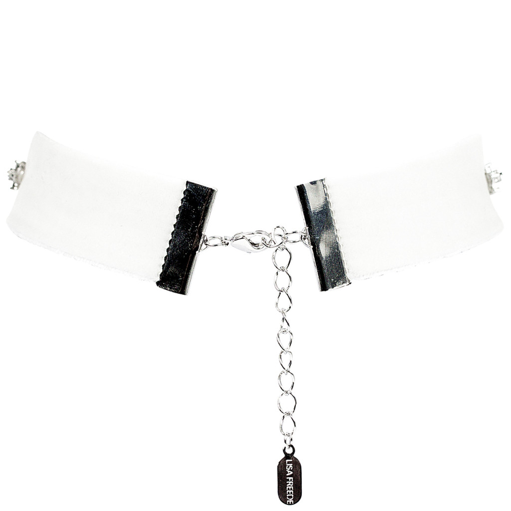 White Velvet Marilynn Choker Back View