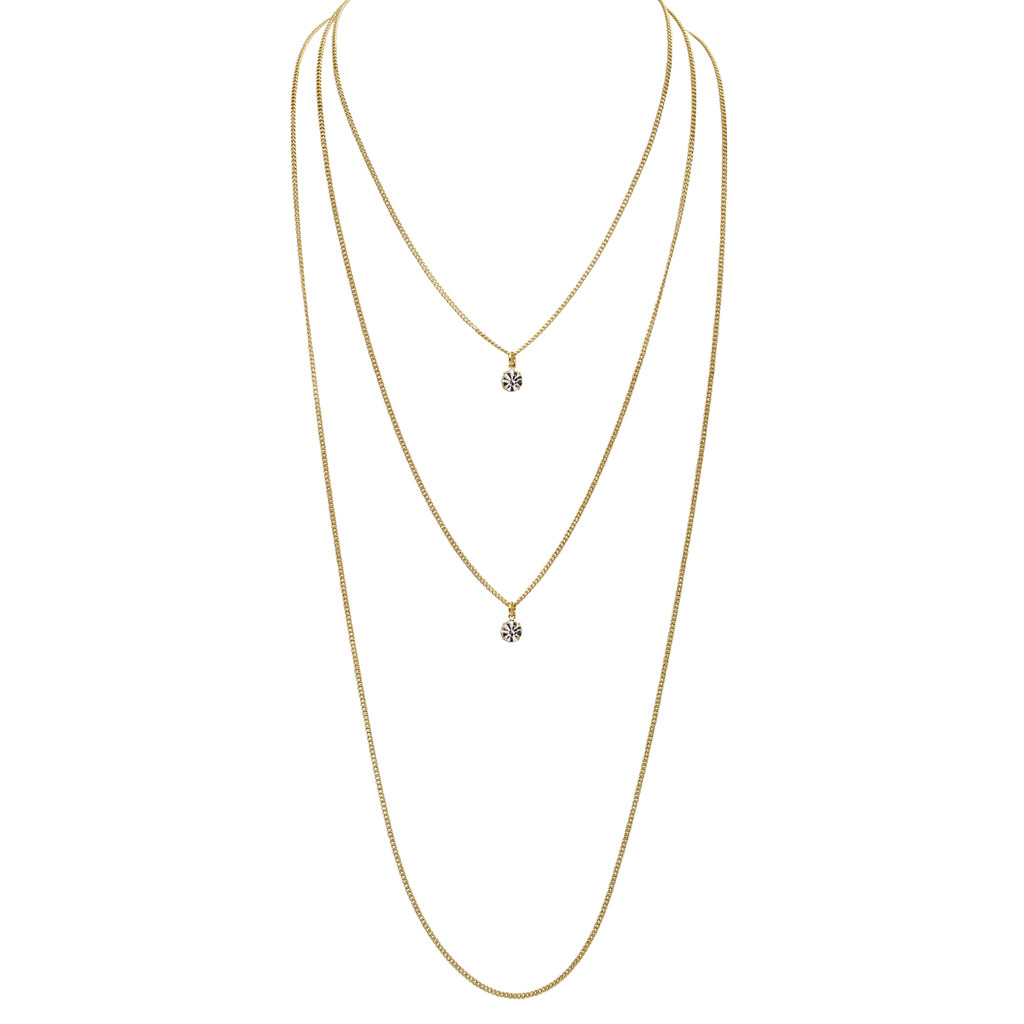 Yellow Gold Plated Trinity Necklace