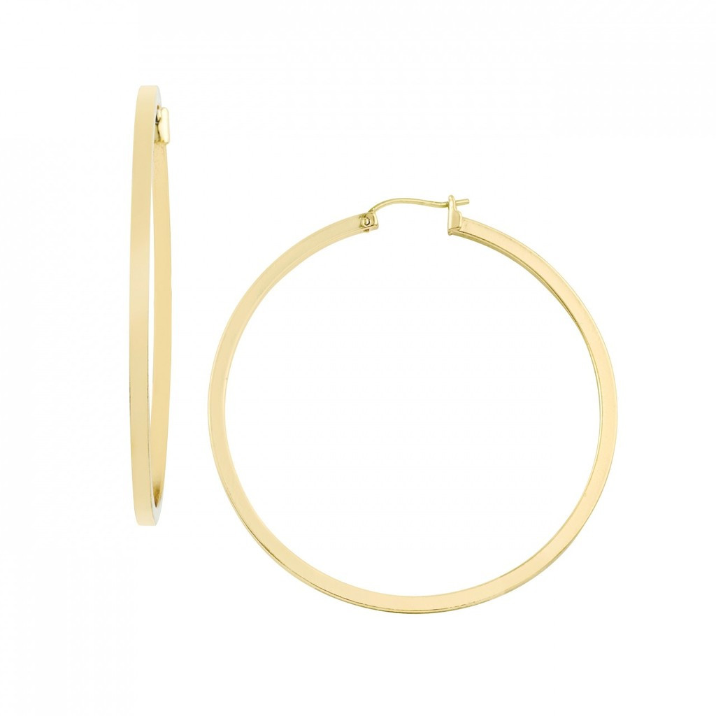 Yellow Gold Plated Extra Large Perfect Hoop Earrings