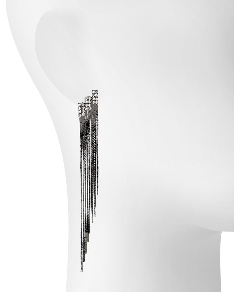 Gunmetal Plated Ace Earrings Shown on Ear