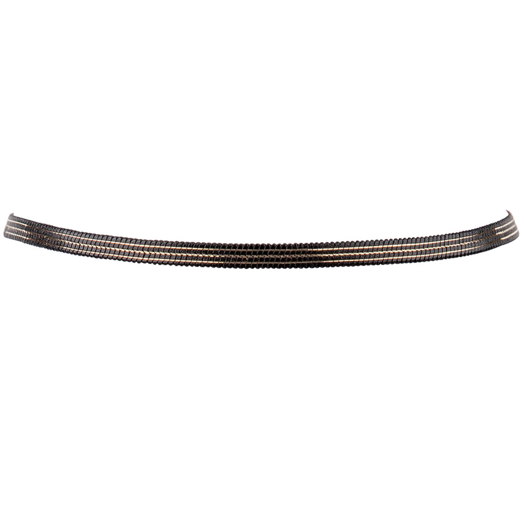 Reversible Finn Choker Side with Thin Gold Stripes