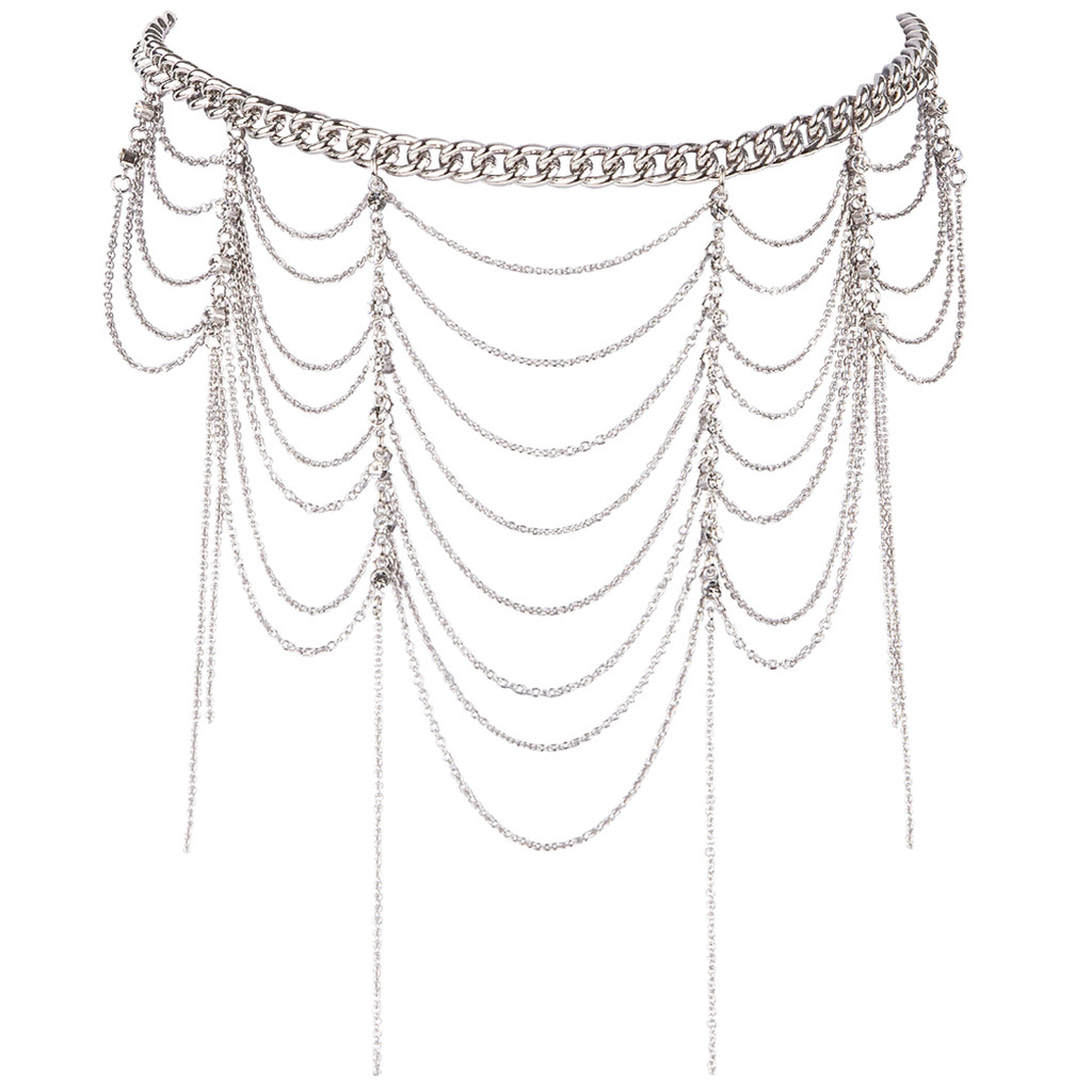 Rhodium Plated Beckett Choker