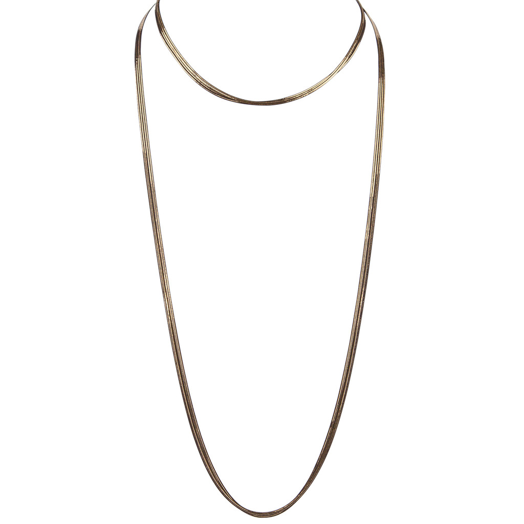 Black/Yellow Gold Plated Gigi Necklace