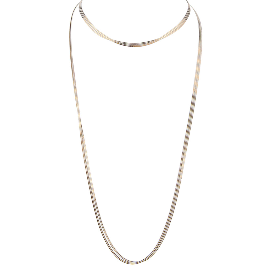 White/Yellow Gold Plated Gigi Necklace