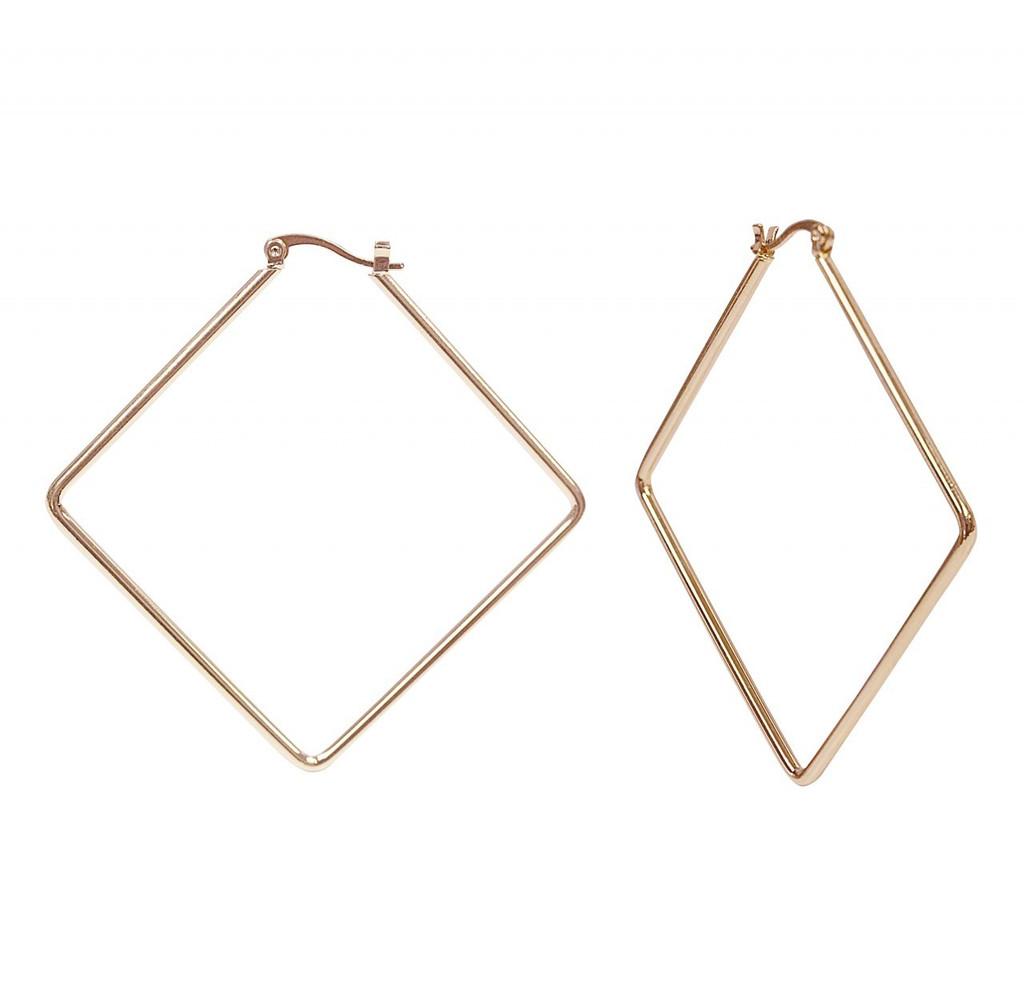 Rose Gold Plated Kim Hoop Earrings
