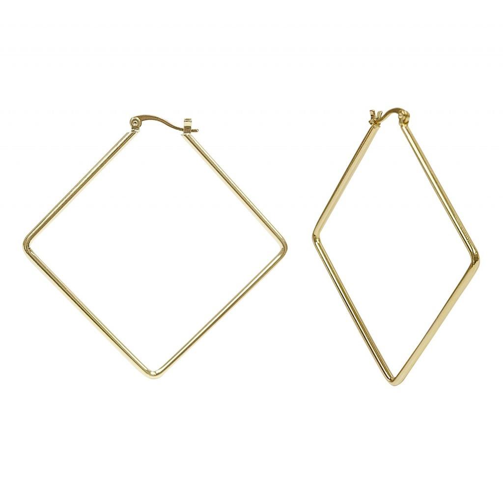 Yellow Gold Plated Kim Hoop Earrings