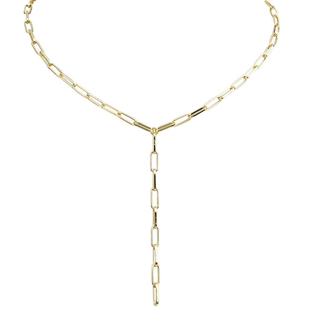 Yellow Gold Plated Mini Marcia Lariat