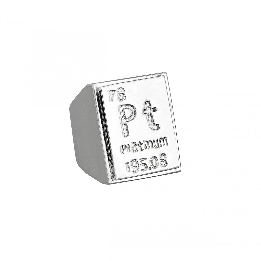Rhodium Plated Platinum Element Ring