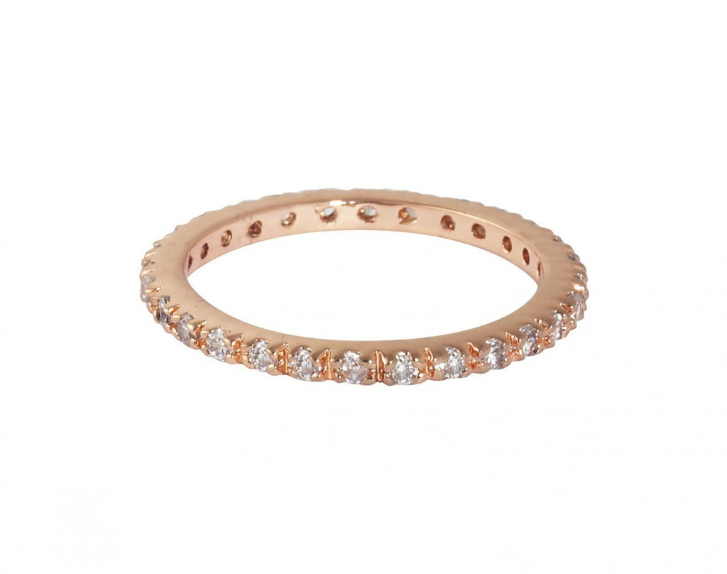 Rose Gold Plated Thin Laser Cut Eternity Band