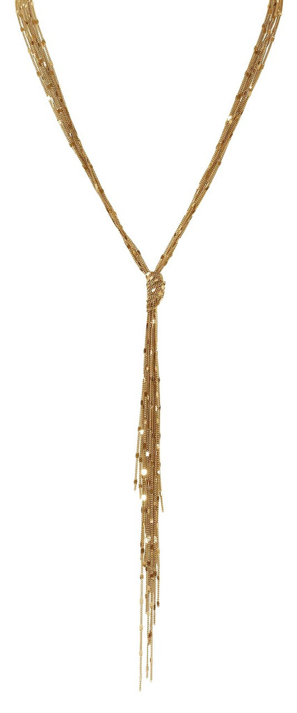 Yellow Gold Plated Sequin Knot Necklace