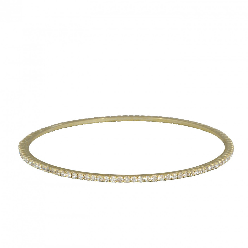Yellow Gold Plated Laser Cut Bangle