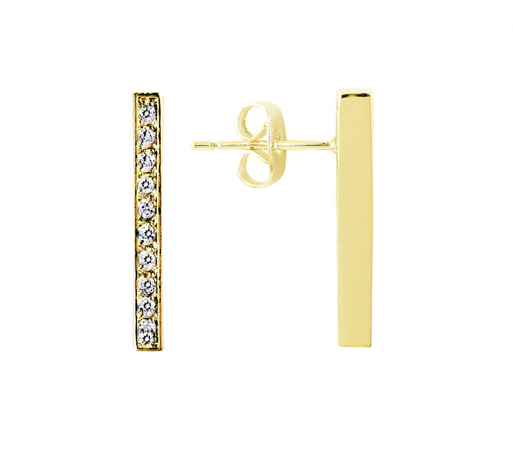 Yellow Gold Plated Ronny Earrings