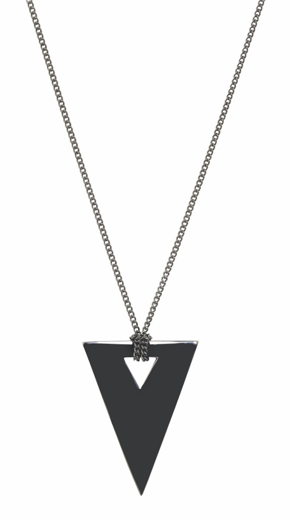 Gunmetal Plated Luna Necklace