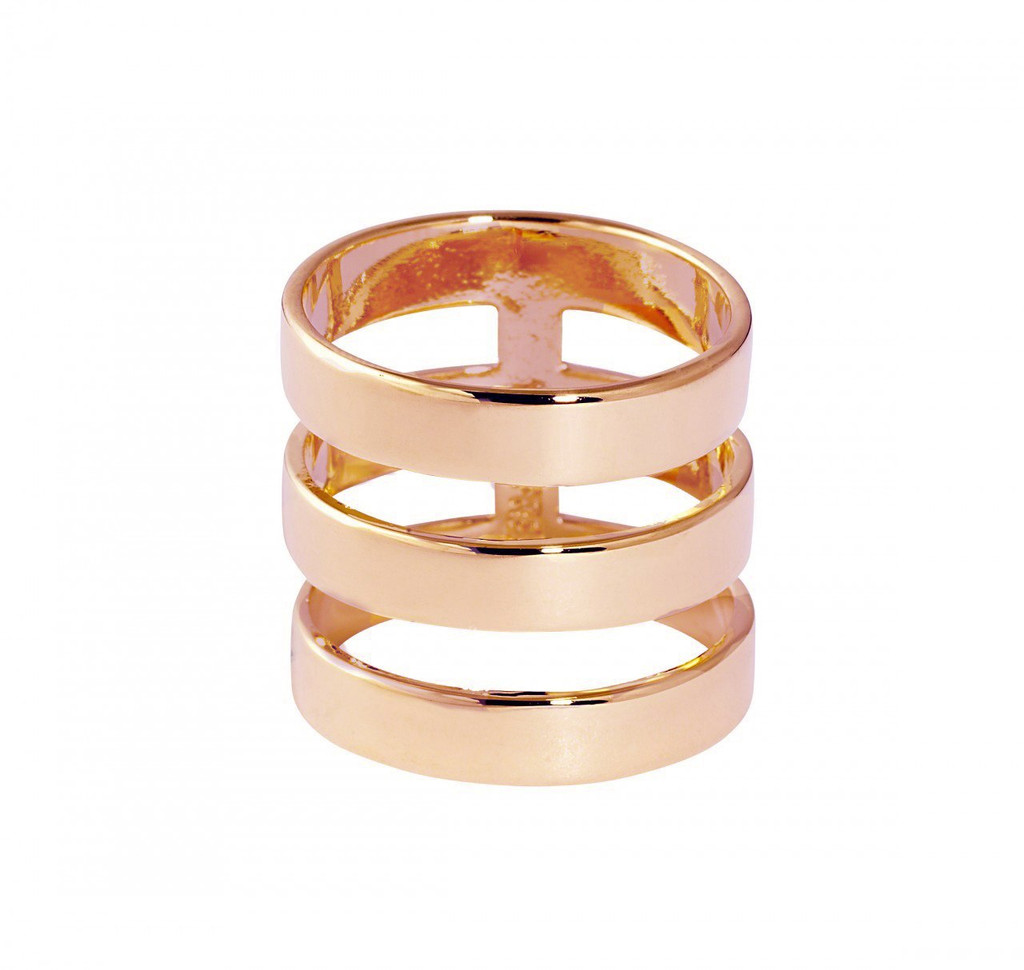 Rose Gold Plated Solid Brooklyn Ring