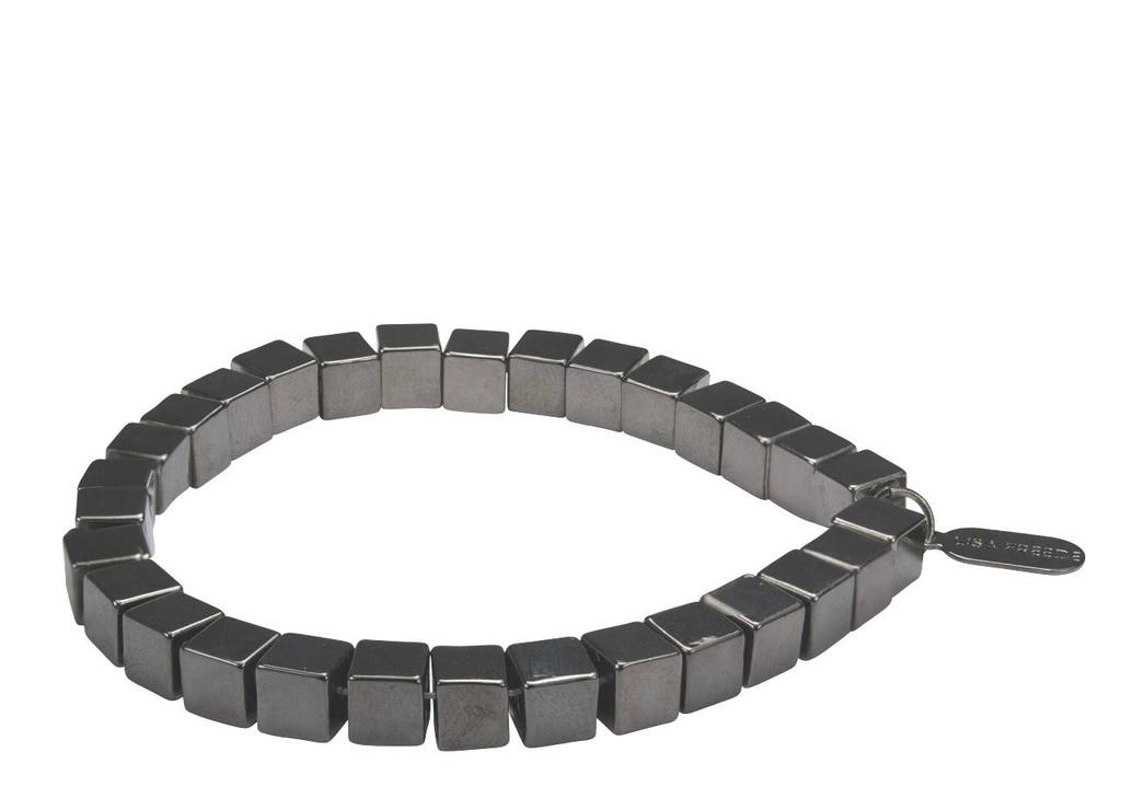 Gunmetal Plated Rome Bracelet
