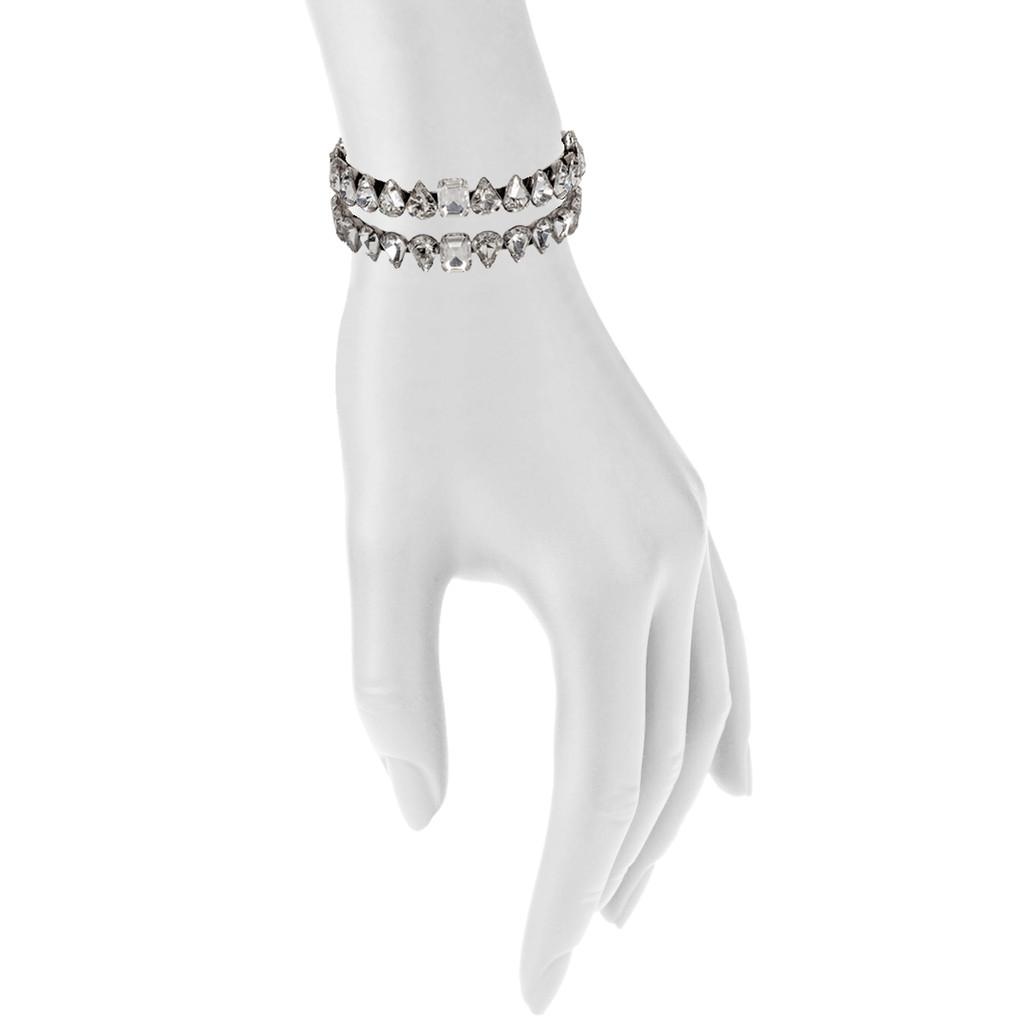 Antique Rhodium Diana Cuff Shown on Arm
