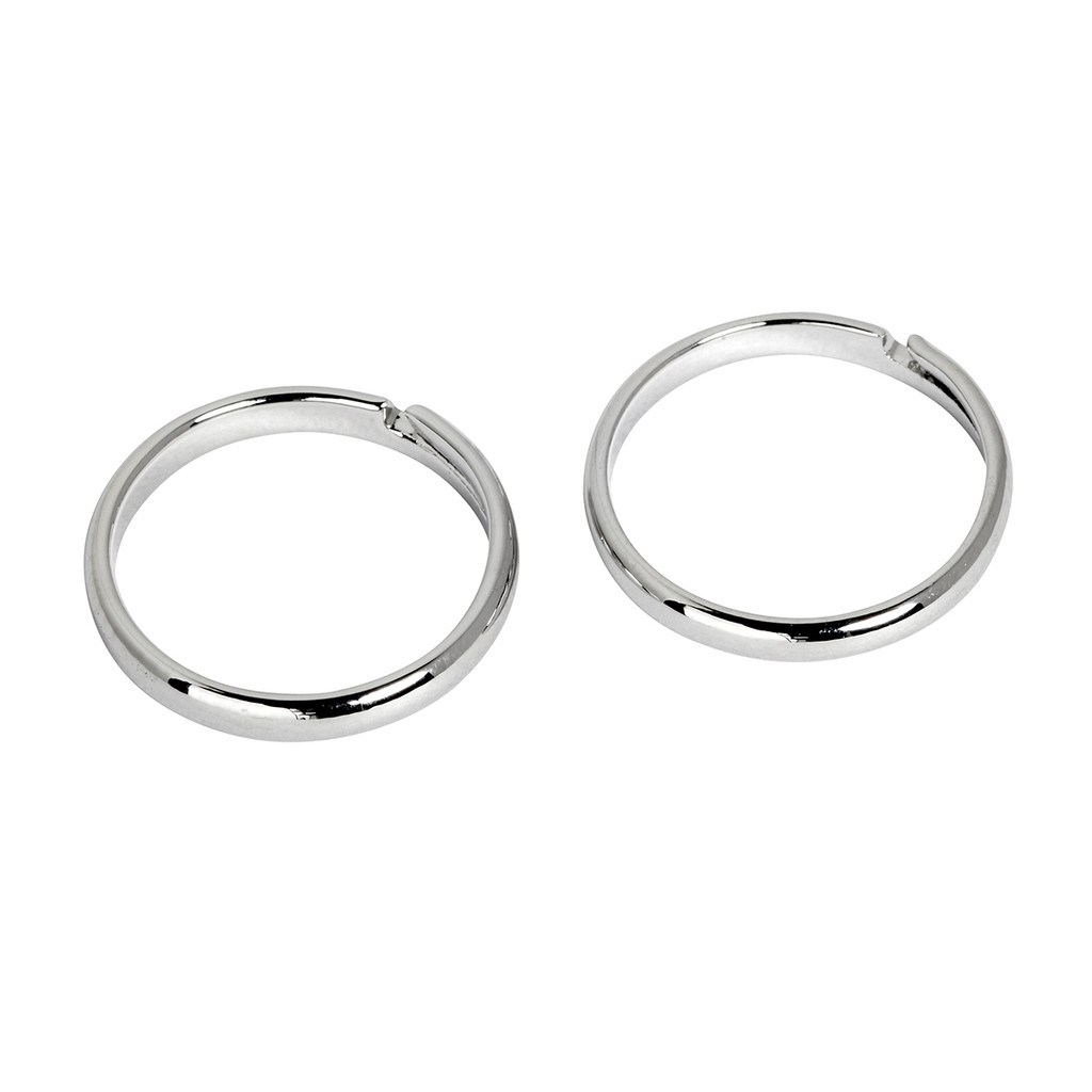 Rhodium Plated Set of 2 Knuckle Rings