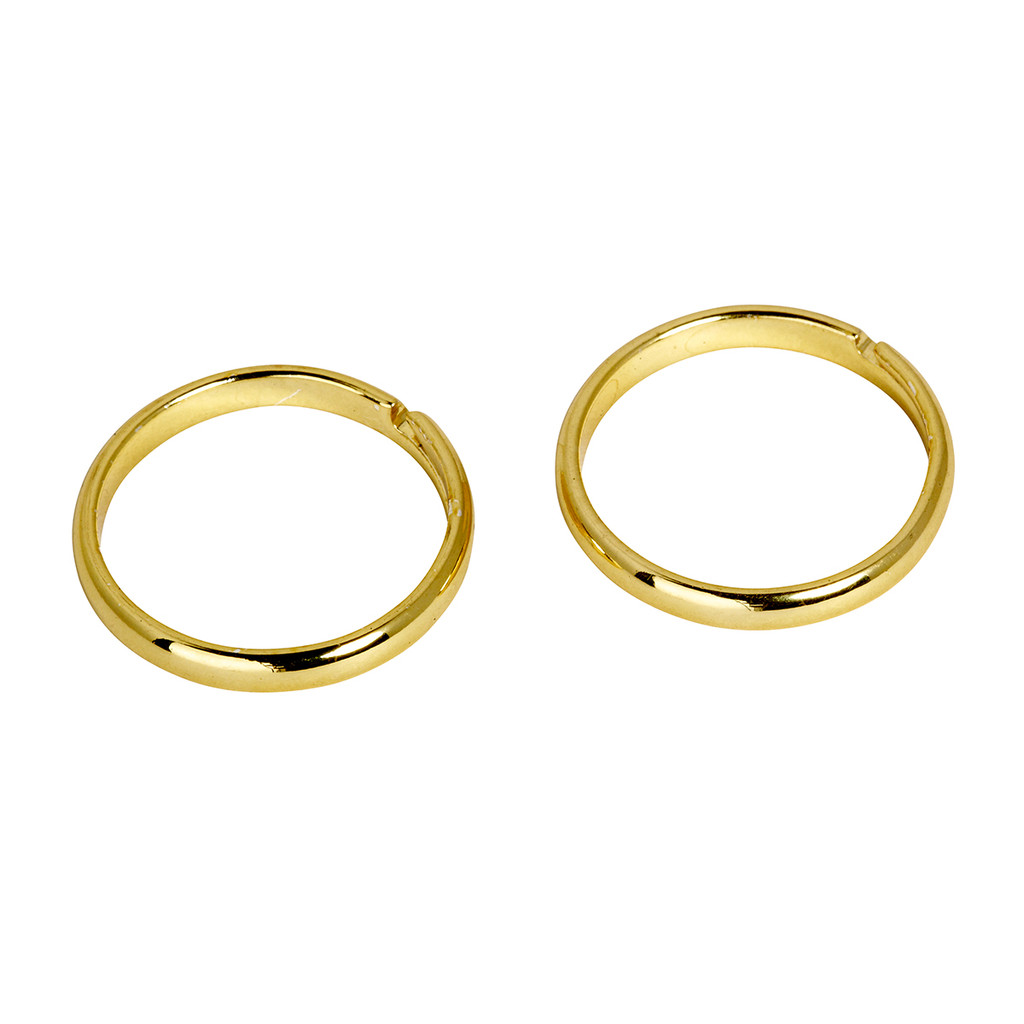 Yellow Gold Plated Set of 2 Knuckle Rings