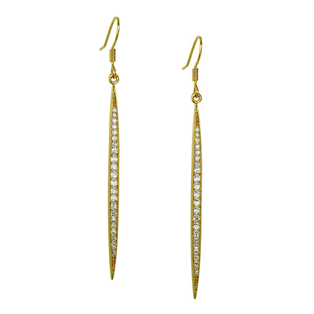 Yellow Gold Plated Icicle Earrings