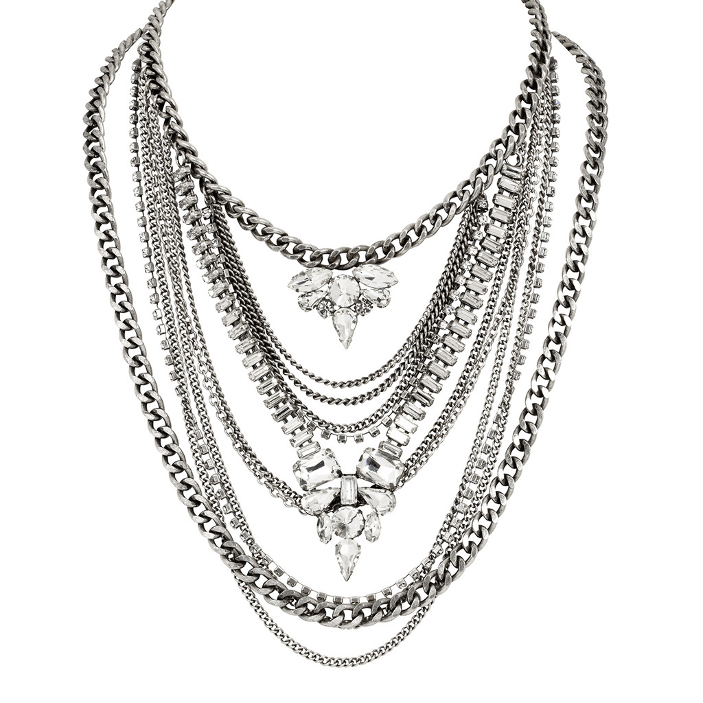 Antique Rhodium Plated Kingsley Necklace