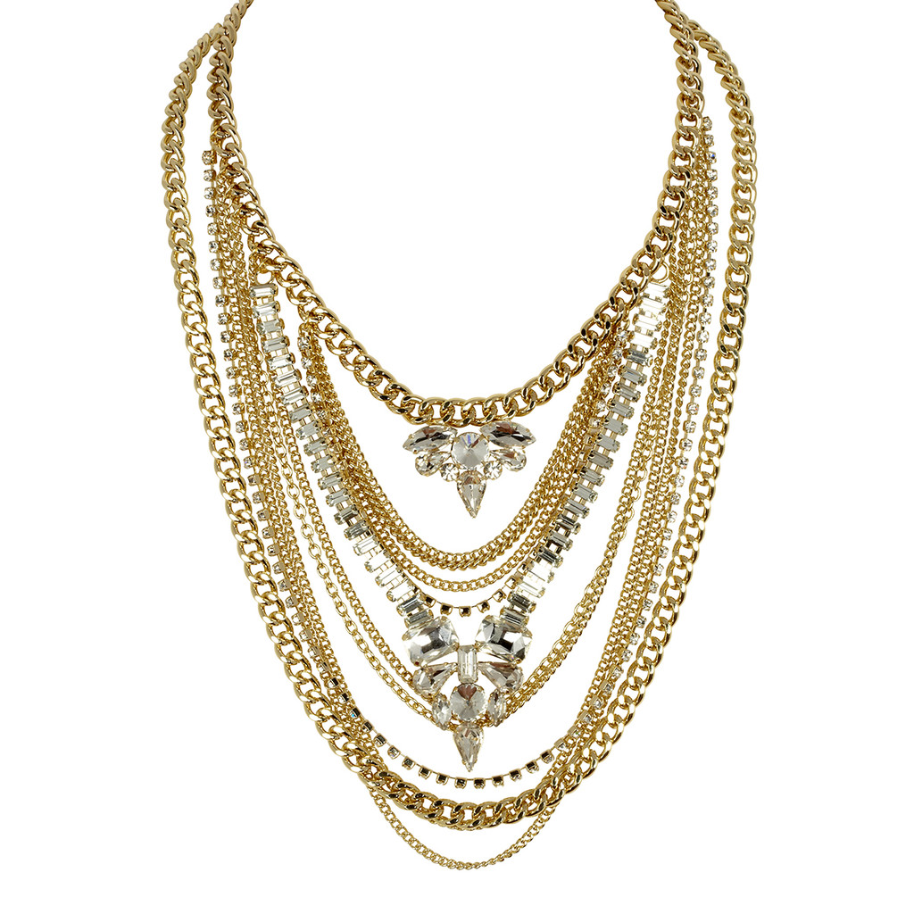 Yellow Gold Plated Kingsley Necklace