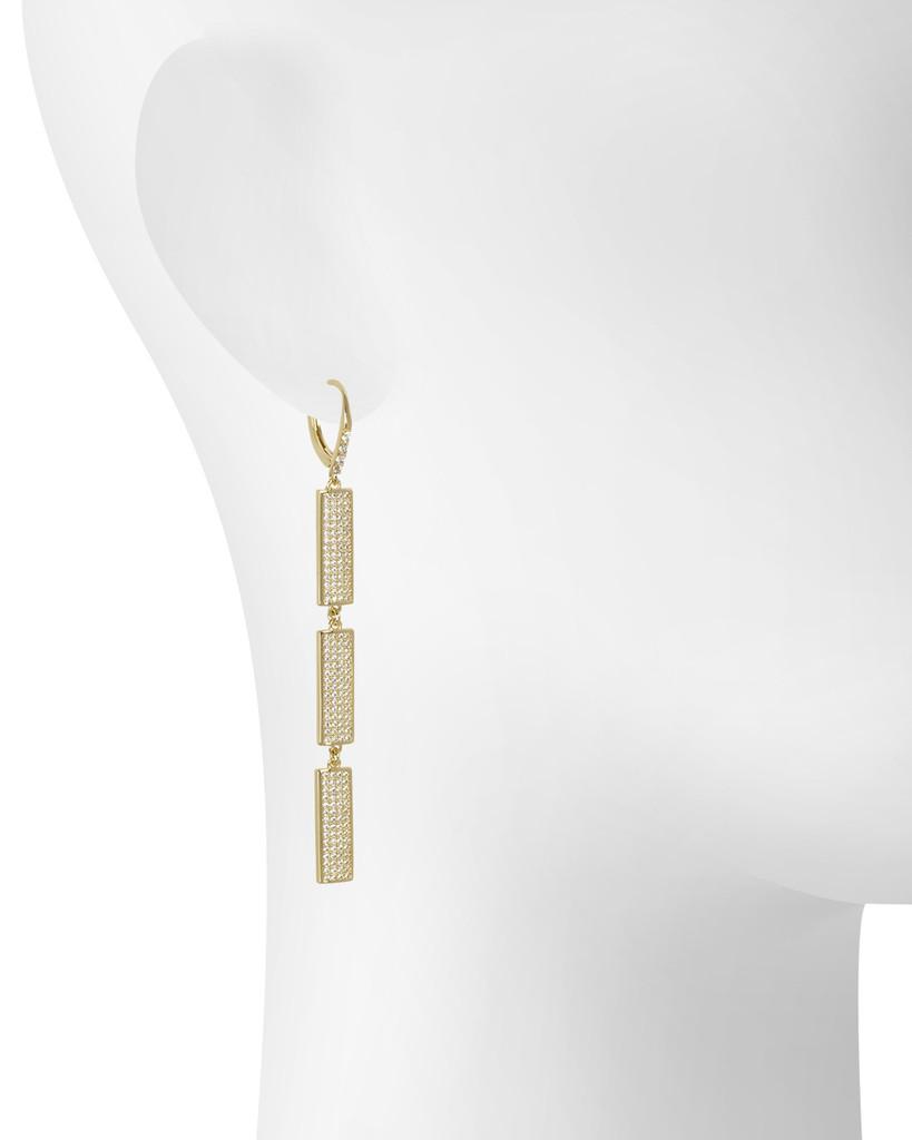 Yellow Gold Plated Sophia Earrings Shown on Ear
