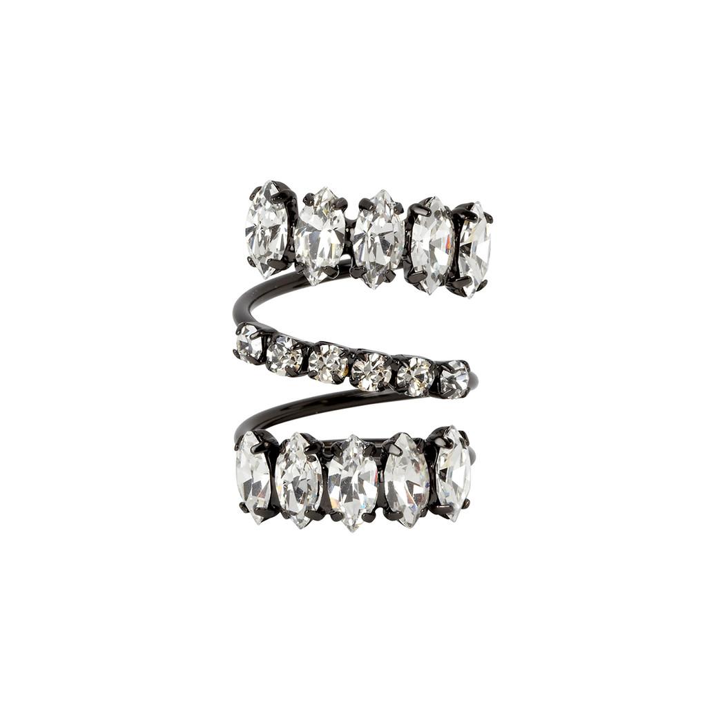 Gunmetal Plated Fox Ring