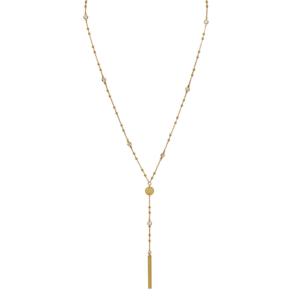 Yellow Gold Plated Amy Necklace