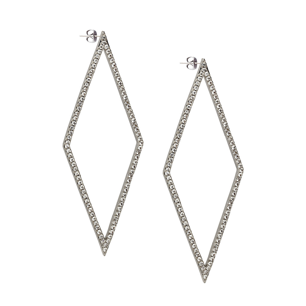 Rhodium Plated Cara Earrings