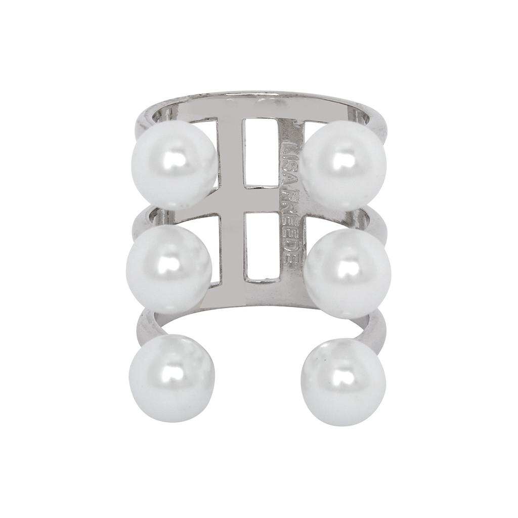 Rhodium Plated Meredith Ring