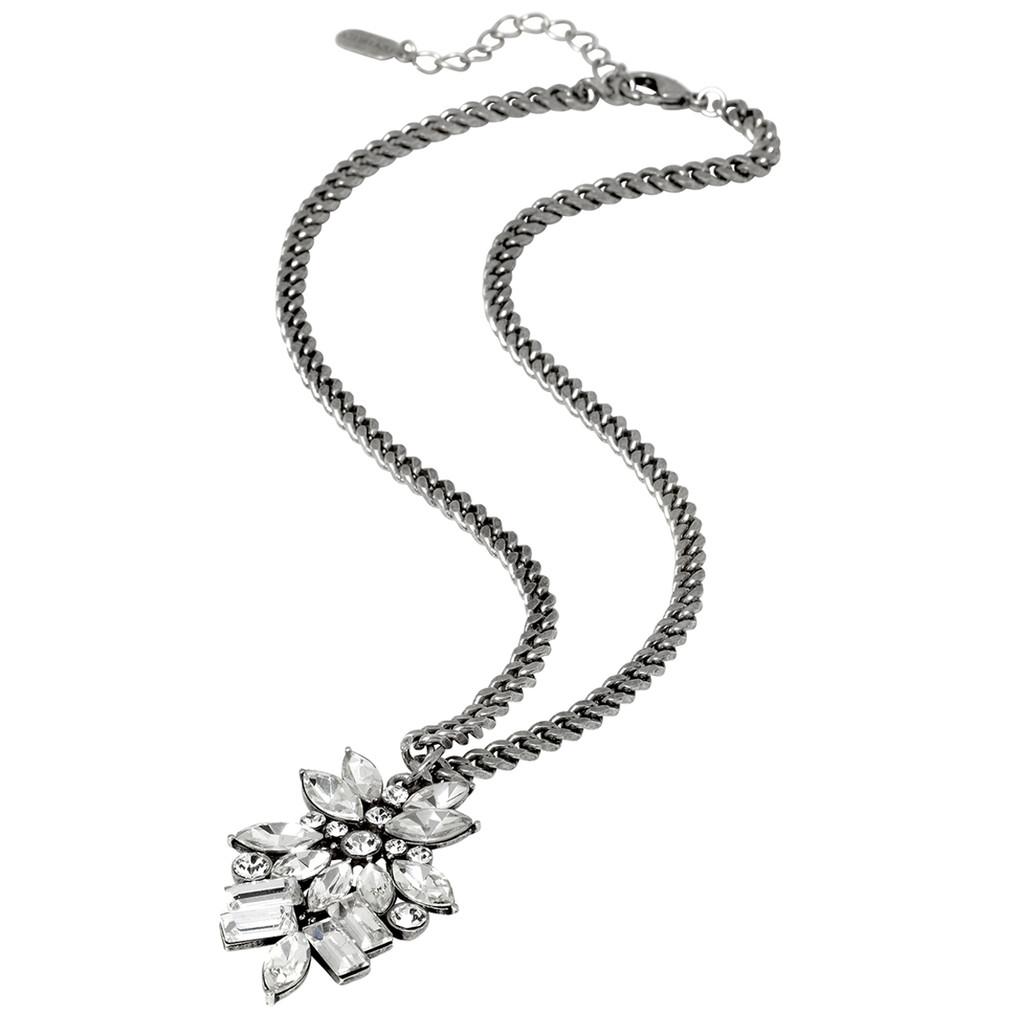 Antique Rhodium Plated Monaco Necklace