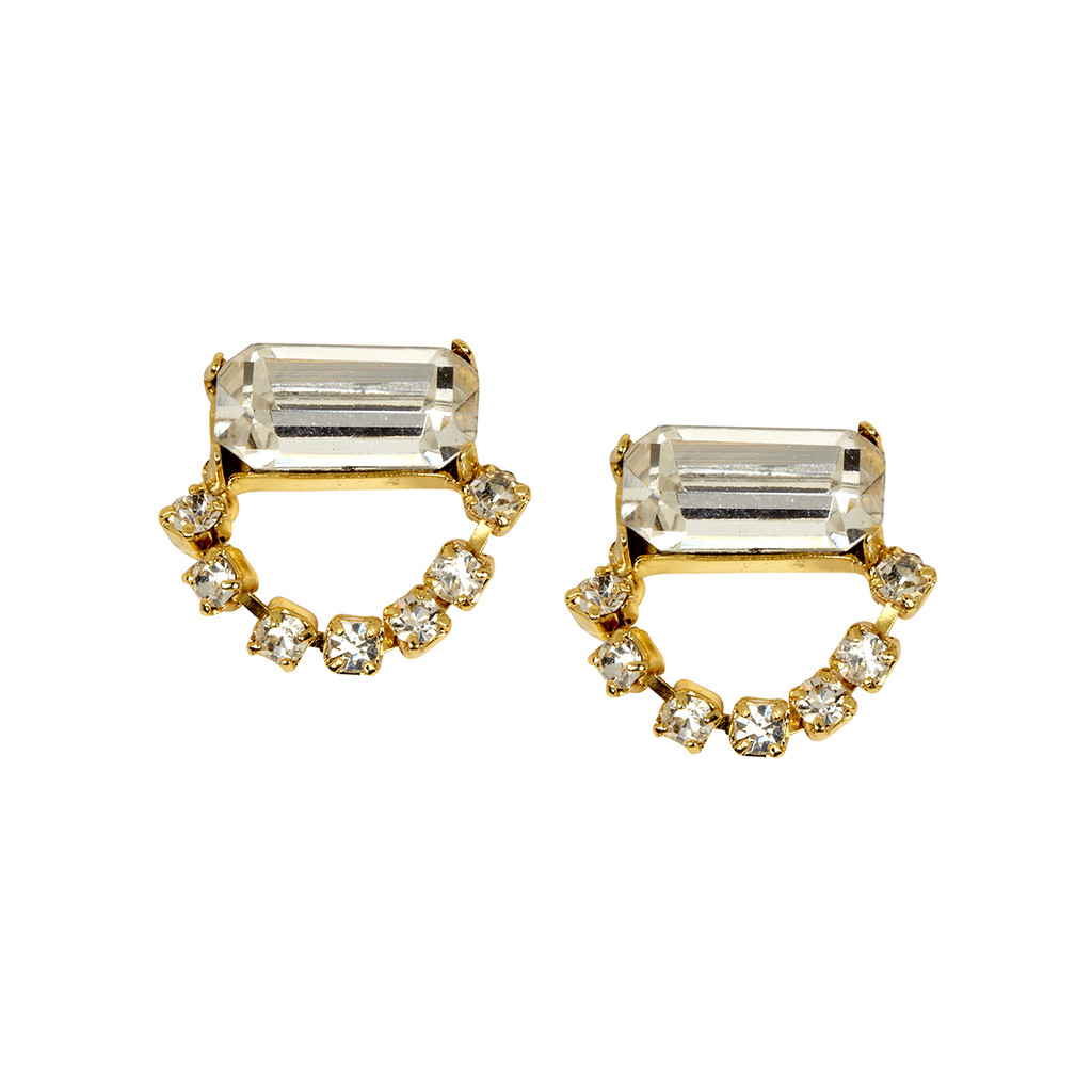Yellow Gold Plated Single Scarlett Earrings